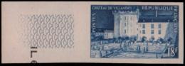 FRANCE   ** 995 Essai En Bleu, Bdf: Chateau De Villandry - Essais