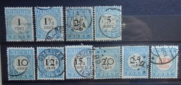 NEDERLAND  1881   Portzegels   P 3 - P 12       Gestempeld  CW  140,00 - Portomarken