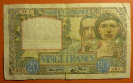20 Francs Science Et Travail  19.12.1940 - 1871-1952 Antichi Franchi Circolanti Nel XX Secolo
