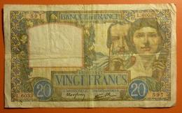 20 Francs Science Et Travail  18.9.1941 - 1871-1952 Antichi Franchi Circolanti Nel XX Secolo