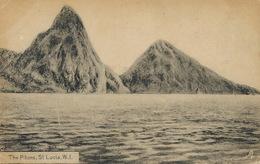 St Lucia W.I. The Pitons . Sainte Lucie  Clarck Castries Tuck Postcard - Sainte-Lucie