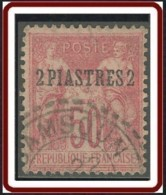 Levant Bureaux Français 1885-1901 - N° 6 (YT) N° 7 (AM) Type III Oblitéré De Samsoun / Turquie. - Used Stamps