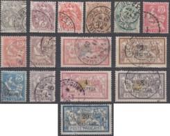 Levant Bureaux Français 1902-1922 - N° 09 à 23 (YT) N° 9 à 23 (AM) Oblitérés. - Used Stamps