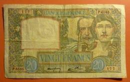 20 Francs Science Et Travail  4.12.1941 - 1871-1952 Antichi Franchi Circolanti Nel XX Secolo
