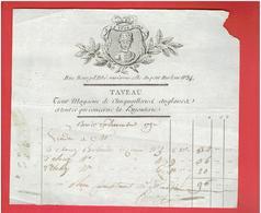FACTURE 9 DEC. 1792 TAVEAU LA TETE NOIRE CLINQUAILLERIE BIJOUTERIE RUE BOURG L ABBE FACE CELLE DU PETIT HURLEUR A PARIS - France