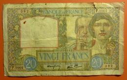 20 Francs Science Et Travail  22.8.1940 - 1871-1952 Antichi Franchi Circolanti Nel XX Secolo