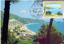 SPOTORNO RIVIERA DELLE PALME  1989 MAXIMUM POST CARD (GENN200436) - Geografia