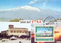 SICILIA ETNA VULCANO ATTIVO 3296 MT.  1989 MAXIMUM POST CARD (GENN200438) - Geografia