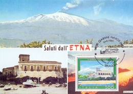 SICILIA ETNA VULCANO ATTIVO 3296 MT.  1989 MAXIMUM POST CARD (GENN200438) - Geografía