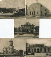5 Postal Guanabacoa Habana Teatro Fausto, Parque , Iglesia Sto Domingo , Ayuntamiento , Iglesia Parroquial - Cuba
