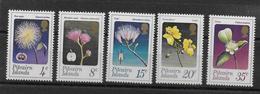 1973 - PITCAIRN - YVERT N° 128/132 ** MNH - FLEURS - COTE = 20 EUR. - Timbres