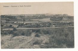 1927 POTENZA PANORAMA E SCALO FERROVIARIO VIAGGIATA - Potenza