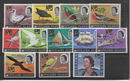 1967 - PITCAIRN - YVERT N° 71/77+79/83 ** MNH - OISEAUX + BATEAUX - COTE = 33 EUR. - Timbres
