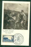 CM-Carte Maximum Card # France-1940 # Guerre, War # La Femme Au Labour (Yvert 457) Obl. Salon De L' Armée , Paris 1953 - Cartes-Maximum