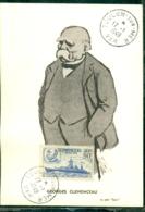 """CM-Carte Maximum Card #France-1939 # Clémenceau, Homme D' Etat (Yvert 425)par """"Sem""""  Obl. Toulon S/Mer 17.1.1949 - Cartes-Maximum"""