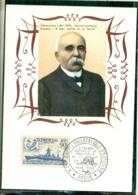 """CM-Carte Maximum Card #France-1939 #Clémenceau, Homme D' Etat (Yvert 425)obl.""""la Grande Guerre 1914-18 """" Paris 11.1958 - Cartes-Maximum"""