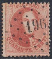 "Médaillon Dentelé - N°16 Obl Pt 196 ""Jemappes"" - 1863-1864 Médaillons (13/16)"