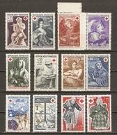 France 1966/77 - Croix-rouge - Petit Lot De 12 Timbres MNH - 3 Séries Complètes - Lots & Kiloware (max. 999 Stück)
