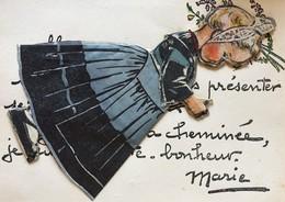 Illustrateur Germaine Bouret Carte à Système - Bouret, Germaine