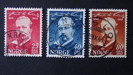 Norway - 1949 - Mi:NO 340-2, Sn:NO 295-7, Yt:NO 311-3 O - Look Scan - Norway