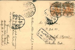 ALLEMAGNE - Affranchissement Plaisant De Dusseldorf Sur CP Pour Beyrouth En 1916 - L 51032 - Germany