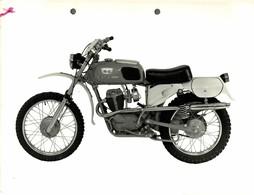 "Moto Morini Corsaro 125 +-23cm X 17cm "" Perforada "" Moto MOTOCROSS MOTORCYCLE Douglas J Jackson Archive Of Motorcycles - Andere"