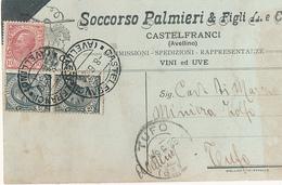1926 CASTELFRANCI  CARTOLINA COMMERCIALE PUBBLICITARIA UVE E VINI - Unclassified