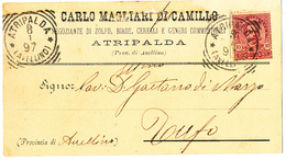 1897 ATRIPALDA  CARTOLINA COMMERCIALE PUBBLICITARIA ZOLFO BIADE CEREALI - Italia