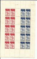 Légion Tricolore  Yvert Nos 565 Et 566 En Bande, Planche   1942 - France