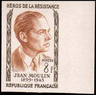 FRANCE   ** 1100 Essai En Bicolore, Bdf: Jean Moulin, Résistant - Essais