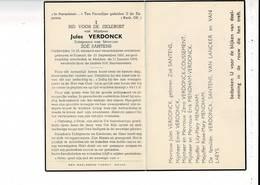 DP 9870 - JULES VERDONCK - SANTENS - BOSSUYT 1881 + MELDEN 1954 - OUDSTRIJDER 14-18 - Devotion Images