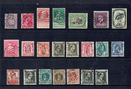 Perforation Lot De 22 Timbres Perforés Belges (perfin) (avant 1940) - Lochung