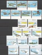 E519 MIX CONGO LAO TRANSPORT AVIATION 3SET MNH - Airplanes