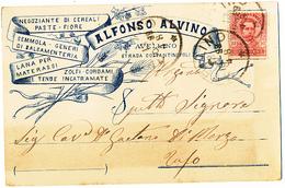 1898 AVELLINO  CARTOLINA COMMERCIALE PUBBLICITARIA PASTE CEREALI LANA TENDE - Italia