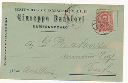1897 CAMPOLATTARO  CARTOLINA COMMERCIALE PUBBLICITARIA EMPORIO - Italia