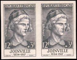 FRANCE   ** 1108 Paire D'essais En Gris: Joinville - Proefdrukken