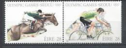 Irlande 1988 N°648/649 Se Tenant Neufs ** Jeux Olympiques Sports - 1949-... Republic Of Ireland