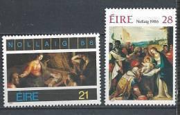 Irlande 1986 N°614/615 Neufs ** Noël - 1949-... Republic Of Ireland