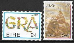 Irlande 1989 N°672/673 Neufs ** Messages D'amour - 1949-... Repubblica D'Irlanda