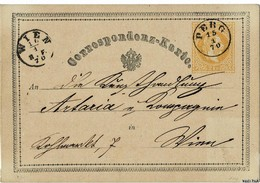 1870, GA Gelb, Selt. Stp. PERG   (Ober-Österreich) ,   #2776 - 1850-1918 Empire
