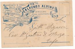 1899 AVELLINO  CARTOLINA COMMERCIALE PUBBLICITARIA PASTE FIORI LANA TENDE - Italia
