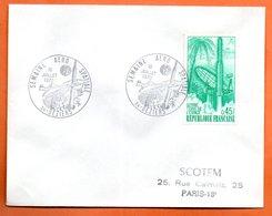 MAURY N° 1635   GUYANNE TERRE DE L'ESPACE   ( Cachet Concordant ) 1970 34 BEZIERS  Lettre Entière N° MN 354 - Marcophilie (Lettres)