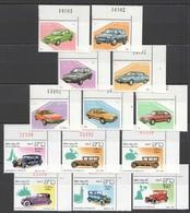 E538 1982,1987 LAO TRANSPORT CARS 2SET MNH - Cars