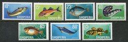 ALBANIA 1967 Fish MNH / **  Michel 1131-37 - Albanië