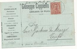 1897 ORSARA DI PUGLIA CHINCAGLIE CHIODI FILATI LEGNAMI VETRI - Italia