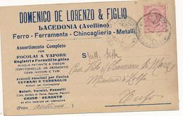 1917 LACEDONIA  CARTOLINA COMMERCIALE PUBBLICITARIA FERRO CHINCAGLIERIA METALLI MATTONELLE - Italia