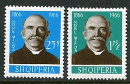 ALBANIA 1966 Mjeda Centenary MNH / **  Michel 1119-20 - Albania
