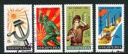 ALBANIA 1966 Labour Party Anniversary Used.  Michel 1115-18 - Albanie