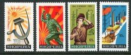 ALBANIA 1966 Labour Party Anniversary MNH / **.  Michel 1115-18 - Albanie