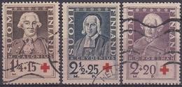 FINLANDIA 1935 Nº 180/182 USADO - Gebraucht